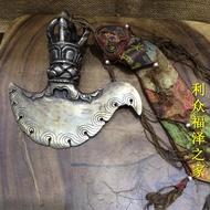 佛教用品 尼泊爾進口純銅 金剛杵 鉞D法器 做舊法器 做工精致1入