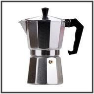 ขายดี!!! หม้อต้มกาแฟอลูมิเนียม Moka Pot กาต้มกาแฟสดแบบพกพา เครื่องชงกาแฟ เครื่องทำกาแฟสดเอสเปรสโซ่ ขนาด 3 ถ้วย 150 มล. เกรดพรี่เมี่ยม