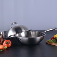 Stainless steel frying pan without lampblack wok induction cooker General uncoated Cookware wok pans