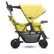 美國 Joovy Caboose Ultralight Graphite 輕量級雙人推車/兄弟車【黃色+第二座椅】【紫貝殼】