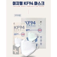 【1 Piece Only】100% Made in Korea EZWELL KF94 Premium Face Mask 4 Ply Mask Individual Pack