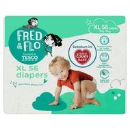 [MEGA OFFER] Tesco Fred & Flo Diapers XL 11kg-16kg 56 Pieces