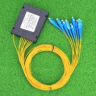 1x8 SC/UPC Cassette Fiber Optic Splitter Fiber Optical Branching Device 1:8 SC Pigtail Splitter