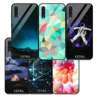 VXTRA 三星 Samsung Galaxy A50 鋼化玻璃防滑全包保護殼 鏡面手機殼