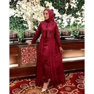 BUTIK BERKAH Setelan Kebaya Pesta brukat + Celana Set Baju Pesta kondangan Muslim modern brokat wisuda remaja muslimah wanita lebaran terbaru 2021 ihattelier ihsandy
