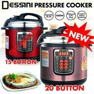 NEW Version DESSINI Pressure Cooker 6L 8L 20 Button – Multifunctional Electric Cooker