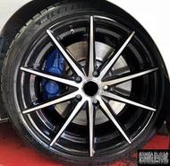 【CS-873】全新鋁圈 類VOSSEN VFS1 19吋 5孔120 黑車面 內凹 BMW f32 428i 實裝圖
