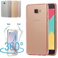 Ultra Slim 360 Full Protective Shockproof Front and Back Transparent TPU Design Gel Soft Case Cover for Samsung Galaxy A710/A7 (2016)