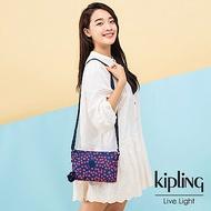 Kipling 古典茜紅小花雙袋斜背小包-MIKAELA