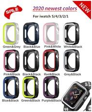 กันชนซิลิโคนสำหรับ Apple Watch Case 44mm 40mm I Watch Case 42mm/38mm Soft Protector COVER Apple Watch 5 4 3 2 1 อุปกรณ์เสริม