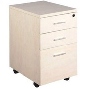 Amercis 3-Drawer Mobile Pedestal for Home and Office Use (Maple)