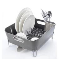 英式排水瀝水架 大號塑料廚房碗碟瀝水置物架廚房角架碗架不銹鋼#碗盤水瀝水架#碗盤水瀝水架#廚房角架#碗架-司司