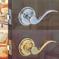 花旗門鎖 湯匙型 純銅 下座水平把手鎖 W201金色、W201-1銀色 硫化銅門 板手鎖(水平鎖 補助鎖 輔助鎖)