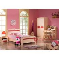 [紅蘋果傢俱] 9010 兒童家具 全實木 圓柱 單人床 雙人 床架 床台  松木衣櫃 書櫃 桌 椅 4尺 5尺