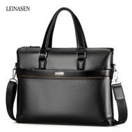 LEINASEN Classic PU Leather Convertible Business Tote Bag for Men