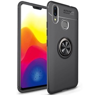 For Huawei Nova 3i Case Luxury Colorful Metal Magnetic Ring Soft Silicone Cover Phone Casing