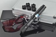 2W藍光雷射筆 標示10000mw點火燒紙箱點香煙+ 可變焦可燃火柴香菸鞭炮金紙 藍色雷射筆