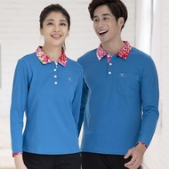 【LEIDOOE】客家花休閒女版長袖POLO衫(53292藍)