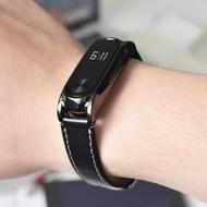 小米手環2腕帶小米手環4腕帶錶帶NFC版款防水3代環帶運動皮質男女防丟免螺絲智能2代表帶替換腕帶