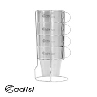 【ADISI】生活家雙層不銹鋼杯組 (AS16192) 一組四入