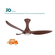 PO ECO GALE 52inch DC Ceiling Fans With Hugger and LED Light