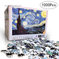 Newhouseye Quovx878 []youngxilive New Children Adult 1000 Pcs Paper Jigsaw Puzzles Landscape Paintings Puzzle Children Jigsaws