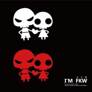 Reflective House FKW Skull Couple Models Cute Stickers Reflective Stickers