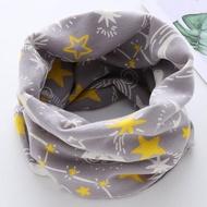 【童話飾界】親子款薄料-百搭套頭圍巾兒童圍脖-脖套口罩帽子頭巾(灰色星空)