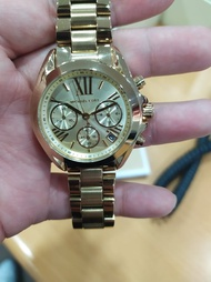 Michael Kors Gold Chronograph Bradshaw Authentic and Pawnable for Men's, MK watch Gold Chronograph Pawnable watch for Women's Original Sale Couple watch