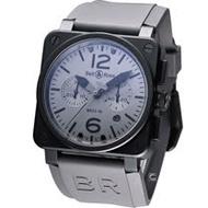 Bell & Ross 計時機械腕錶BR0394-COMMA-SRU灰