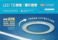 好商量~ 大友照明 12W LED環型燈管 單燈管 取代傳統圓型/環形燈管/陽台燈/廁所燈TCL-290 (台灣製造)