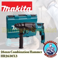Makita 26mm Combination Rotary Hammer Drill HR2630X3 Brand New