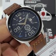 Original Kademan Men's 6147G Leather Watch Official 1 Year Guarantee