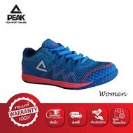 PEAK รองเท้า วิ่ง มาราธอน ระบายอากาศ พีค Running Shoe รุ่น E52308G - Blue/Lemon