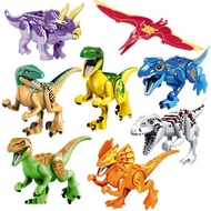 8 dinosaurs/set  Jurassic World Park Model Builing Blocks Compatible with lego