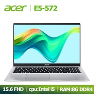 โน๊ตบุ๊คมือสอง Acer แล็ปท็อปสินค้าคงคลัง Acer E5-572 15.6 นิ้ว Intel Core i5 RAM8G+SSD120G GPU:NVIDIA GeForce 840M 2GB w10 ระบบภาษาไทยฟรีกระเป๋าเป้คอมพิวเตอร์และเมาส์