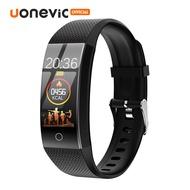 Uonevic สร้อยข้อมือสมาร์ท QW18 HD หน้าจอสี IP68 กันน้ำสนับสนุนว่ายน้ำกล้องบลูทูธตลอด 24 ชั่วโมงการจัดการสุขภาพกีฬาดูสมาร์ทสำหรับApple/Android
