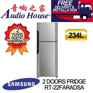 SAMSUNG RT22FARADSA 2 DOOR FRIDGE WITH DIGITAL INVERTER 234L [2 YEARS PARTS + 10 YEARS COMPRESSOR AG