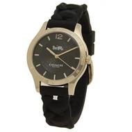 (全新)Coach黑色手錶(編號:W1631橡膠錶帶)