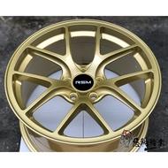 全新鋁圈 RSM RB01 18吋 5孔114.3 9J 土豪金色 輕量化 WRX STI (非 B牌 F1 FI)