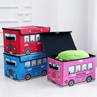 Collapsible Toy Organizer Box Folding Storage Toy Chest for Kids Bedroom Organizing Books and Toys and Kid Clothes