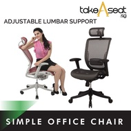 Simple Ergonomic Office Chair ★ Adjustable Lumbar Support ★ Mesh Office Chair ★ Comfortable