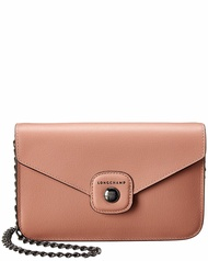 Longchamp Womens  Le Pliage Heritage Leather Wallet On Chain