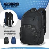 《熊熊先生》Samsonite 新秀麗 AT美國旅行者 休閒後背包 旅遊包 LOGIX系列 雙肩包 大容量 可插掛拉桿 筆電包 AS5*005 透氣背帶