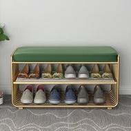 北歐現代簡約換鞋凳床尾凳雙層收納入戶玄關椅凳入門凳子鞋架置物