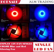 INPLAY 12V FAN SINGLE COLOR Blue and Red Glowing Fan / ALM Trading