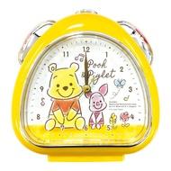 T'S FACTORY 三角飯糰造型鬧鐘 附夜燈功能 桌鐘 時鐘 迪士尼 小熊維尼&小豬 坐姿 黃