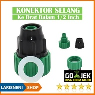 Hot! 1 / 2 Inch Threaded Hose Connector Adaptor Garden Hose Pipe Fittings Green