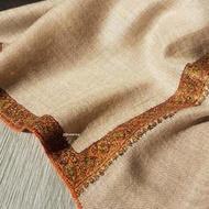 QQ旅行小舖~北印度 喜馬拉雅高級款小羔羊shamina手工邊袖刺繡款圍巾69*200