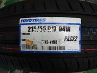 {順加輪胎}TOYO CF2 215/55/17 日本製 PS4 V552 PLAYZ VE303 3ST T001